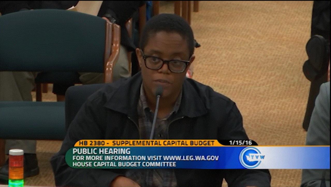 Dean at Public Hearing