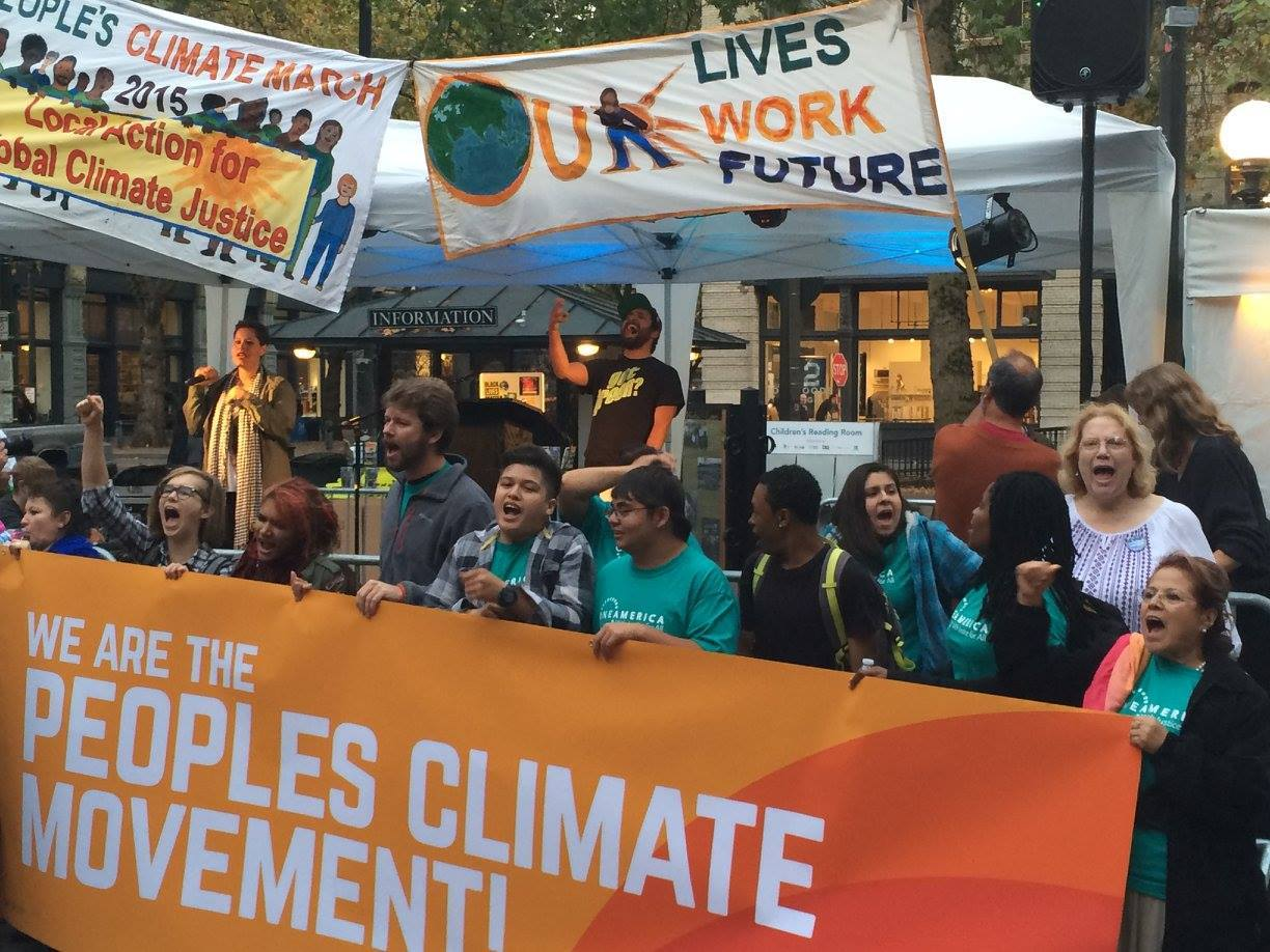 OneAmerica at People's Climate March