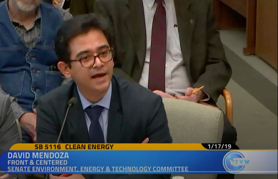 Video testimony: 100 percent clean energy should keep the lights on