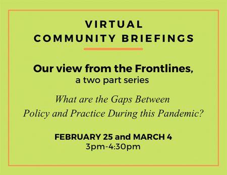2021 Virtual Community Briefings